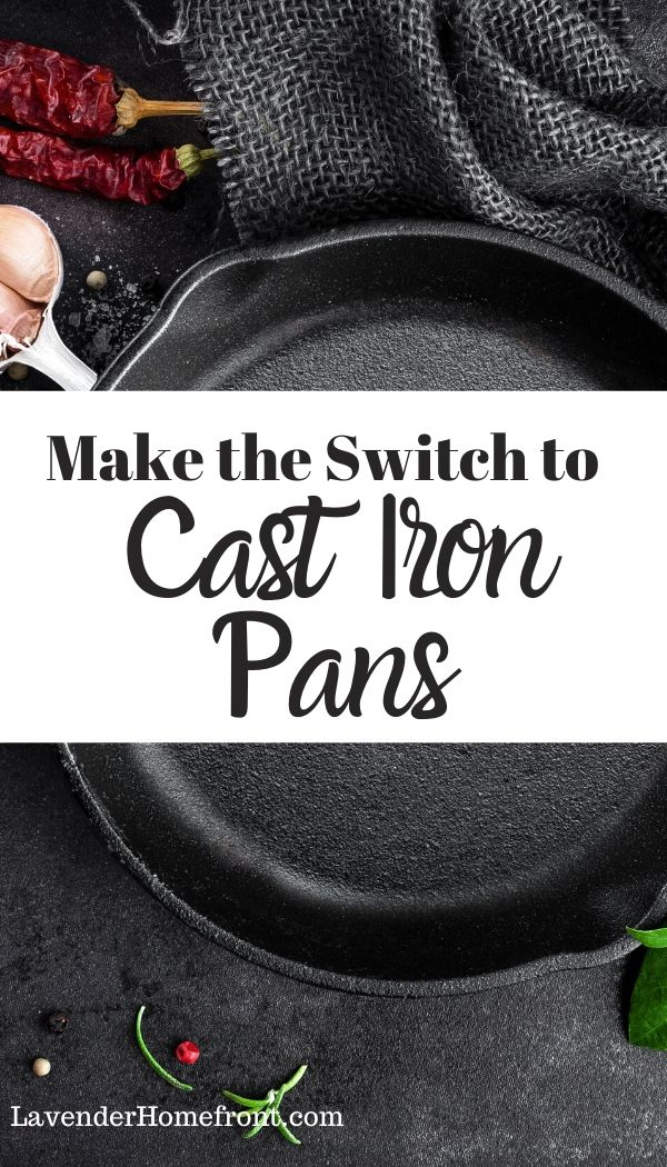 cast iron pan cooking pinnable image
