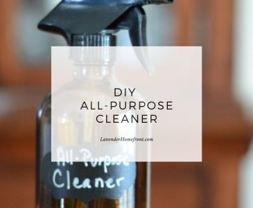 Homemade non-toxic all purpose cleaner recipe main image with text overlay