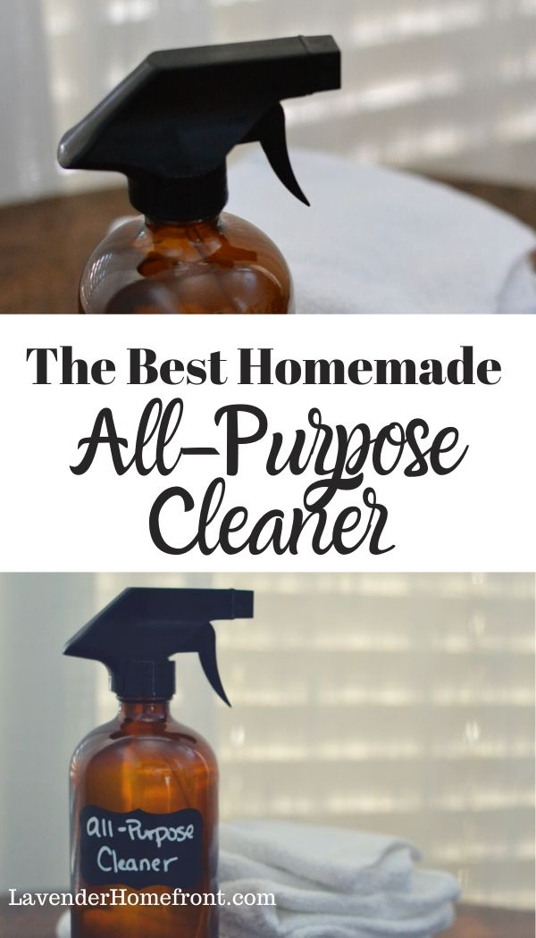 homemade all-purpose cleaner pinnable image