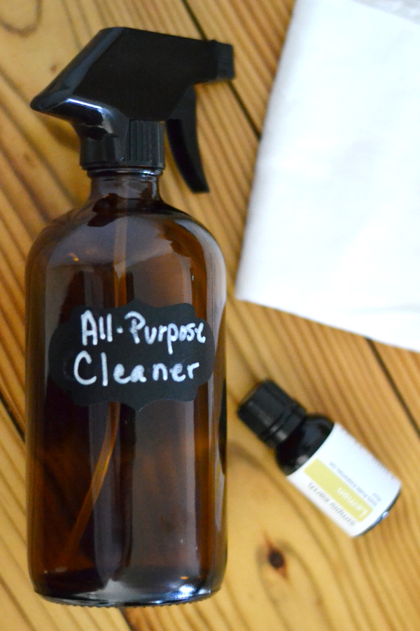Homemade all-purpose cleaner without vinegar.