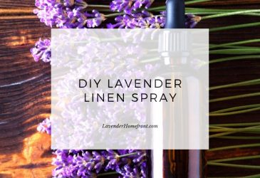 DIY lavender spray main image with text overlay