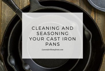 cleaning and seasoning your cast iron pan main image with text overlay.