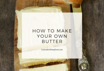 making butter and buttermilk main image with text overlay.