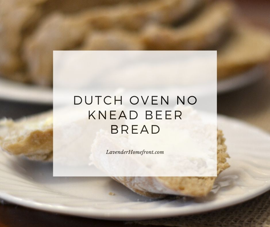 dutch oven no knead beer bread main image