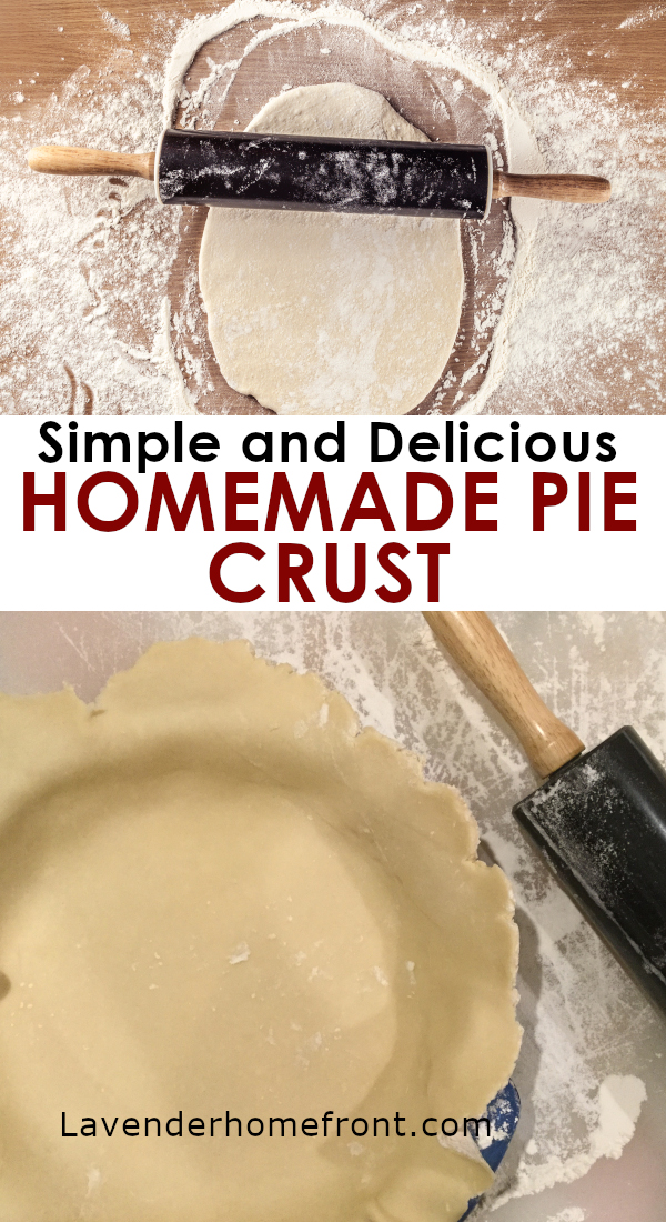 homemade pie dough pinnable image