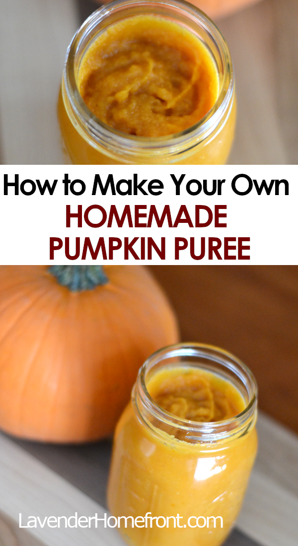 homemade pumpkin puree pinnable image