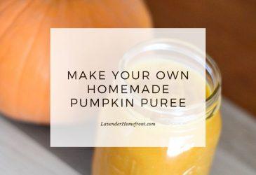 homemade pumpkin puree main image with text overlay