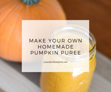 homemade pumpkin puree main image with text overlay