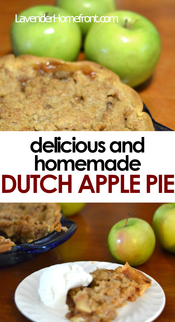 dutch apple pie recipe pinnable image