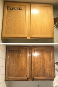 Laundry Room Cabinet Refinishing
