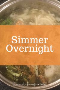 Homemade Chicken Stock Simmer Overnight