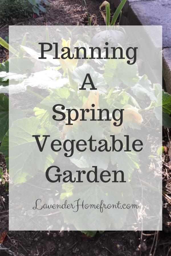 Planning a spring vegetable garden