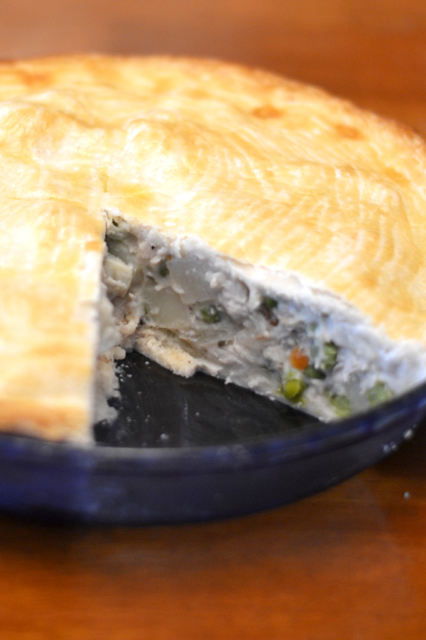 Homemade from scratch chicken pot pie.