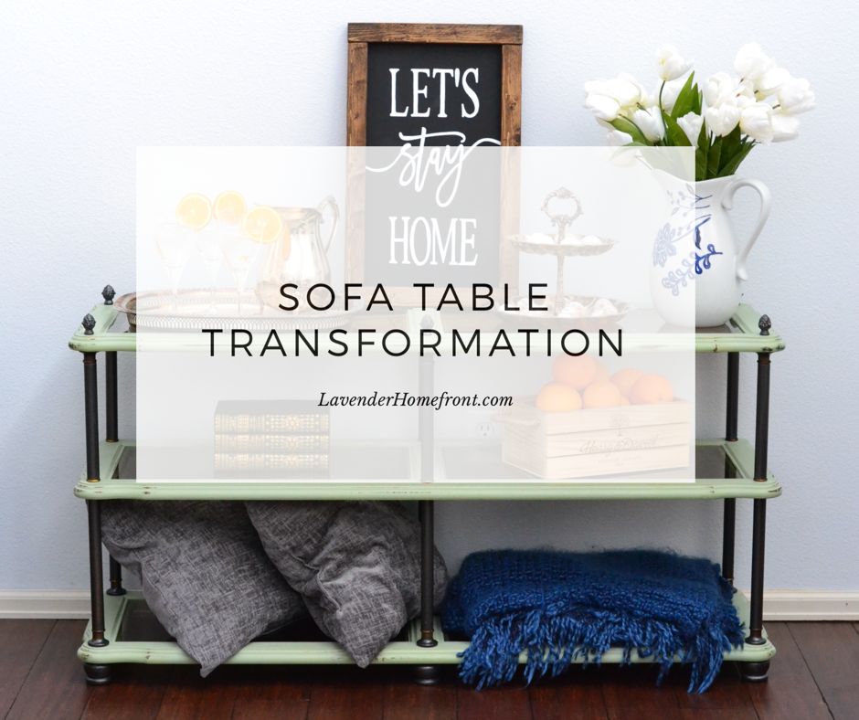 Chalk Painting Sofa Table Transformation