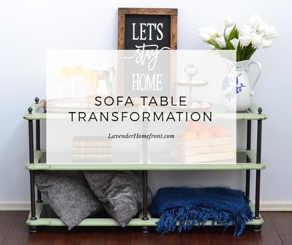 Chalk Painting Sofa Table Transformation