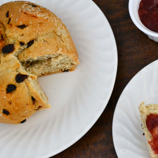from scratch irish soda bread perfect for St. Patrick's Day