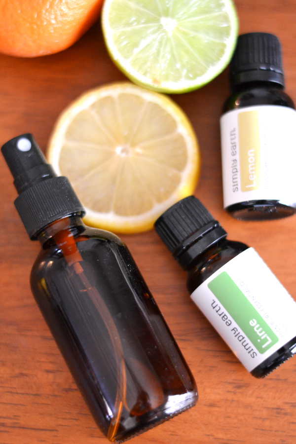 citrus air freshener made with essential oils