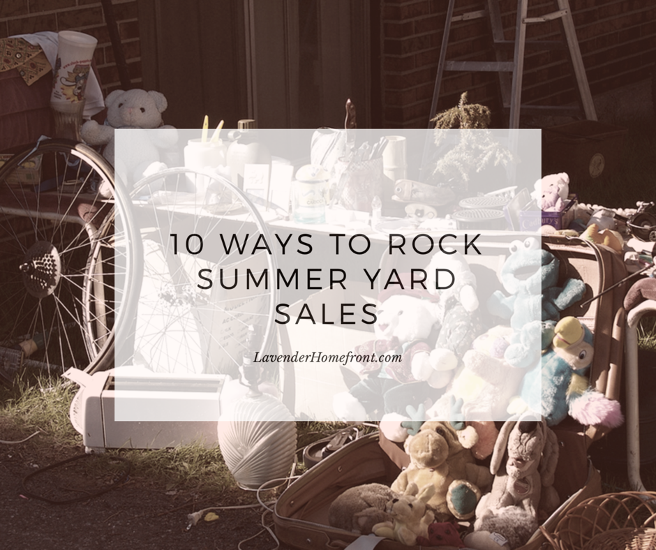 How to Rock Summer Yard Sales
