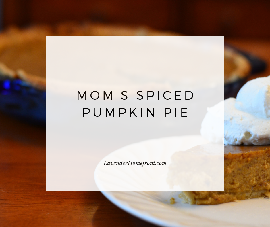 Spiced Pumpkin Pie Recipe