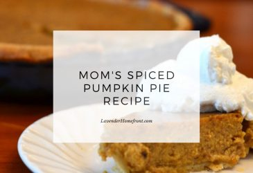 spiced pumpkin pie main image with text overlay