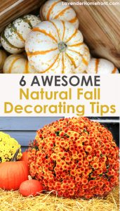 tips for natural fall decorating