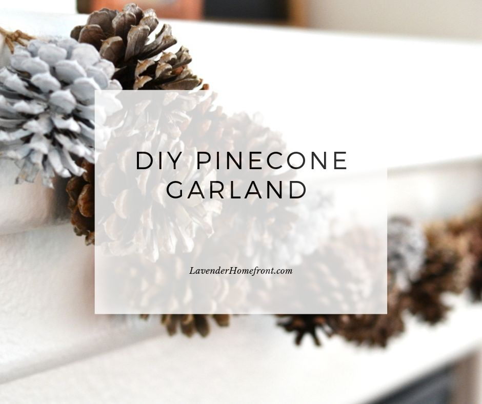 DIY Pinecone craft frugal and easy