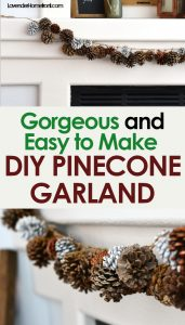 DIY pinecone garland for christmas decoration natural decor