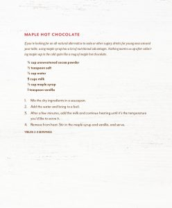 amazing maple hot chocolate recipe