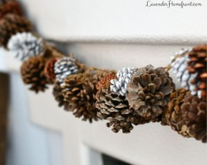 beautiful and frugal minded pinecone garland