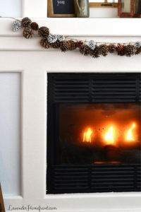 pinecone garland for christmas