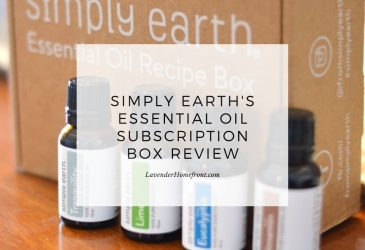 Simply Earth essential oils main image with text overlay.