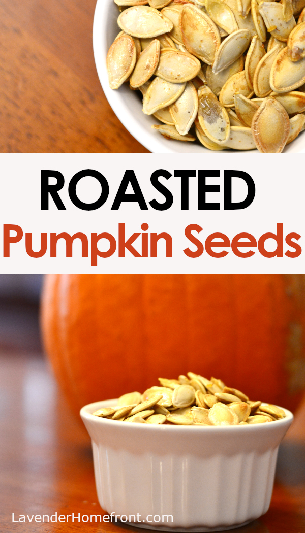 how and why you should roast your own pumpkin seeds pinnable image.
