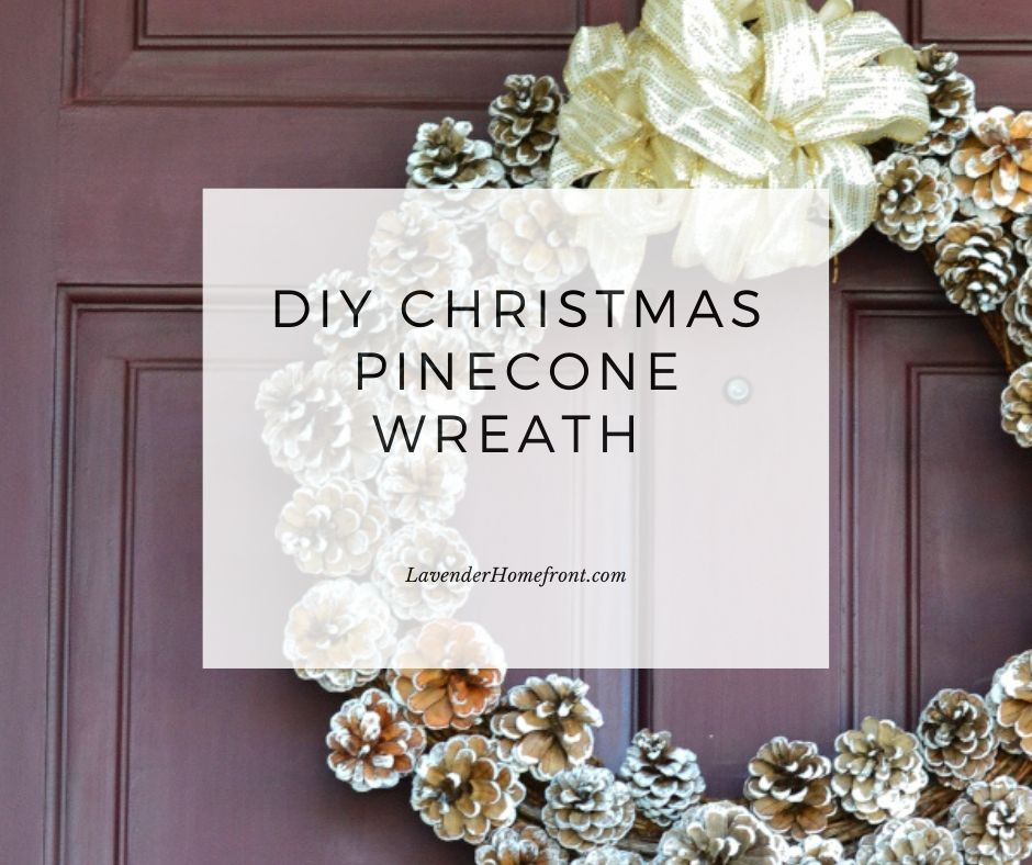 homemade pinecone wreath tutorial