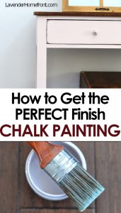 how to get a perfect finish on chalk painted furniture