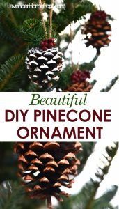 how to make a simple and charming DIY Pinecone Garland
