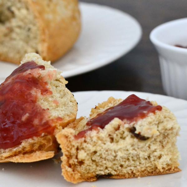 Irish soda bread with freshly made strawberry jam.