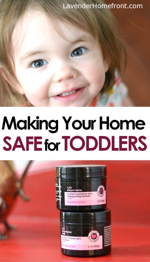 Make your home safe for toddler pinnable image