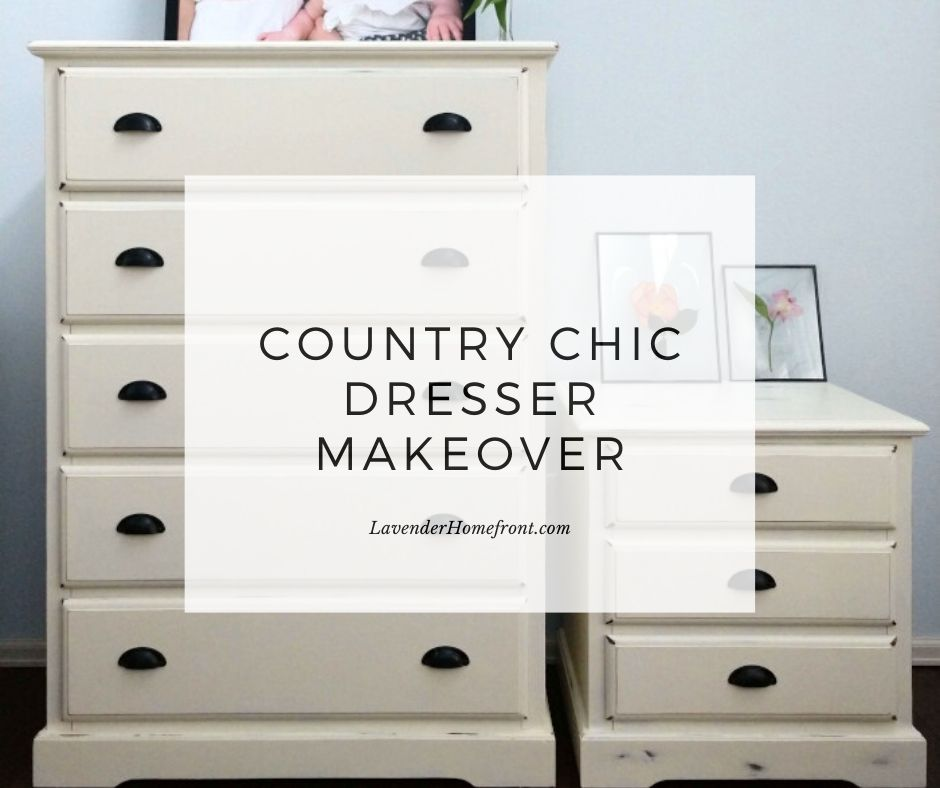 white dresser makeover with chalk paint