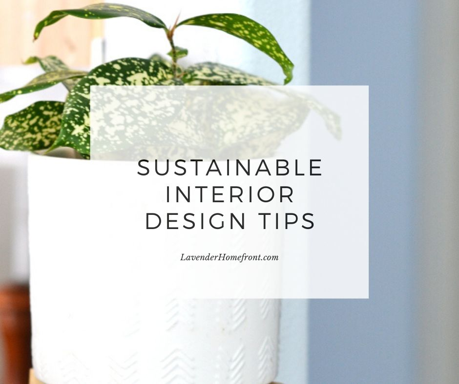sustainable interior design and home decor main image