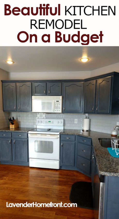 kitchen remodel on a budget pinnable image