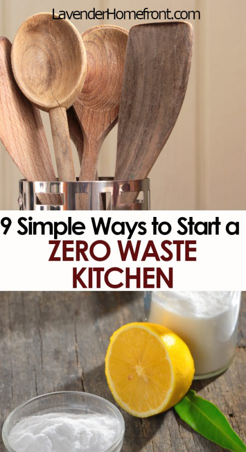 zero waste kitchen pinnable image