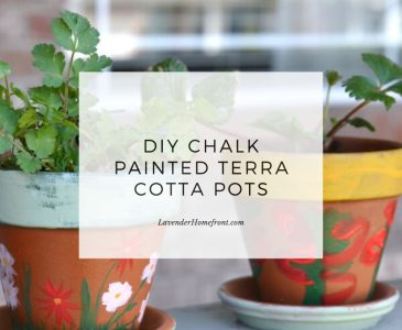 DIY chalk painted terra cotta pots main image