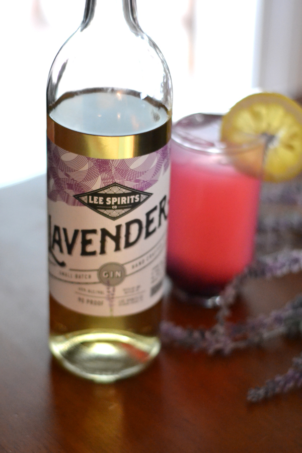 lavender gin for the lavender lemonade cocktail