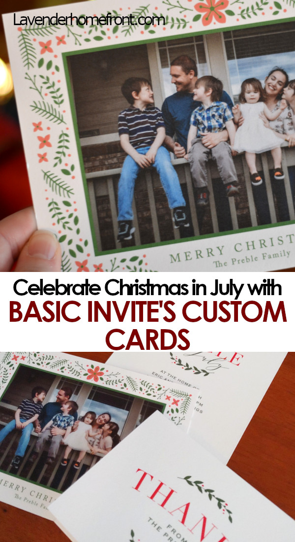 Christmas in July Invitations Basic Invite Pinnable Image