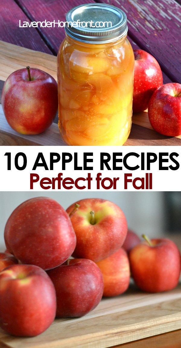 apple recipes perfect for fall pinnable image