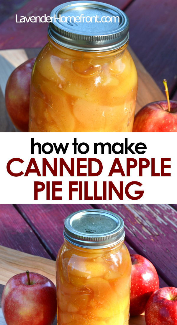 canned apple pie filling pinnable image