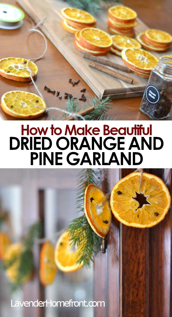 dried orange garland pinnable image