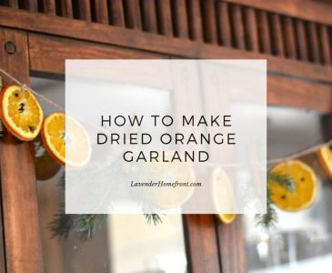 dried orange garland main image