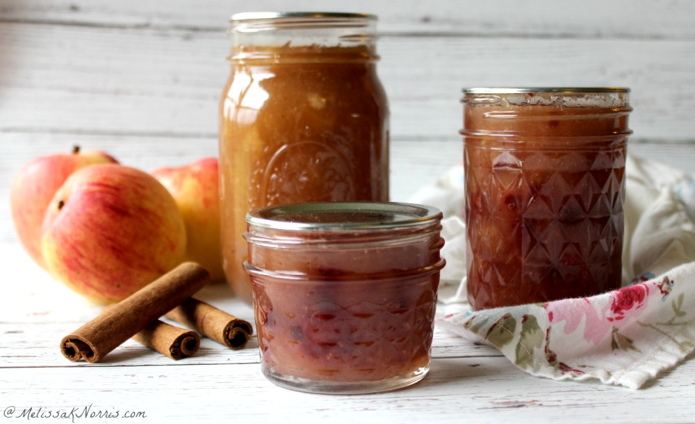 homemade apple jam sitting on a table