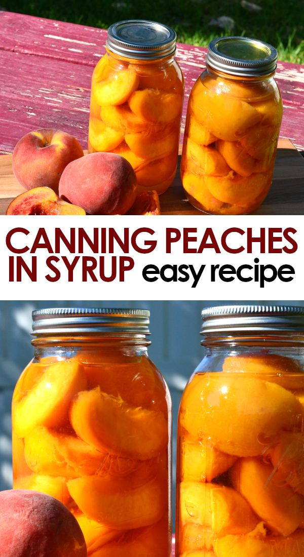 canning peaches in syrup pinnable image